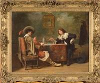la partie de cartes entre gentilhommes by charles antoine joseph loyeux