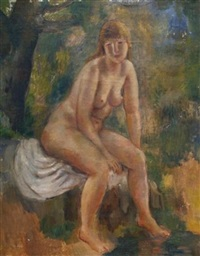 the bather by bernard karfiol