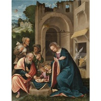the adoration of the shepherds by martino piazza