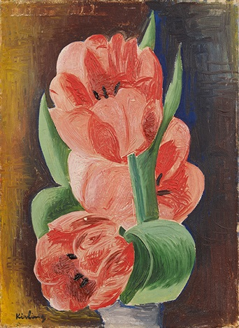 tulipes roses by moïse kisling
