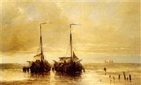 l'arrivée des bateaux by hendrik vader