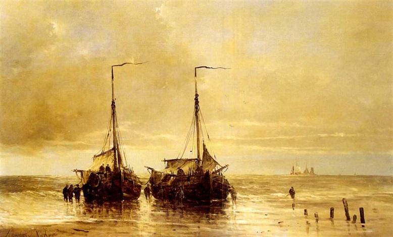 larrivée des bateaux by hendrik vader