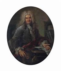 portrait d'un homme à son bureau by charles-antoine coypel