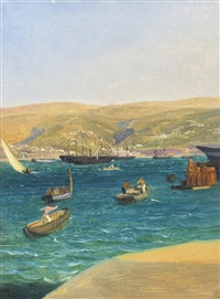 hafen von triest (the harbour, trieste) by thomas ender