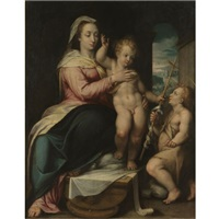 madonna and child with the infant saint john the baptist by lorenzo sabatini