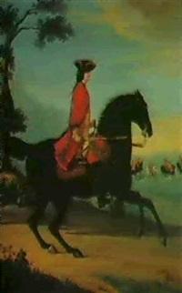 equestrian portrait of general hawley by david morier