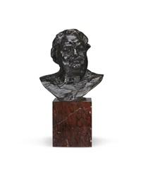 balzac, étude type c (buste), 2ème version, petit modèle by auguste rodin