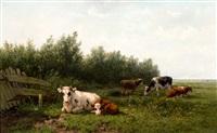 koeien in weidelandschap by gesina johanna francina vester