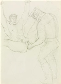 s/t (fisting) by tom of finland