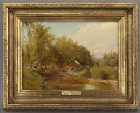 sawmill, hunter, ny by jervis mcentee
