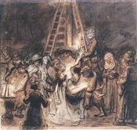 la descente de croix by abraham van dyck