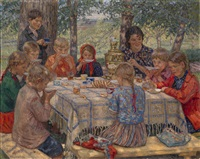 the teacher's name day by nikolai petrovich bogdanov-bel'sky