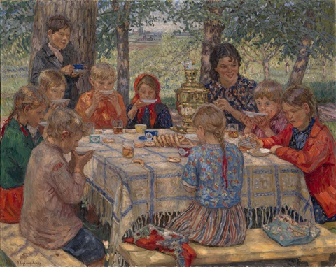 the teachers name day by nikolai petrovich bogdanov belsky