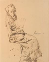 portrait of aino ackté by albert edelfelt