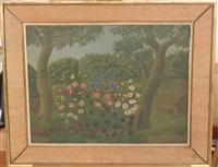 paysage au champ de fleurs by andré bauchant
