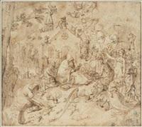 la tentation de saint antoine by peeter de jode the elder
