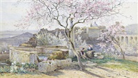 in a garden near rome by charles earle