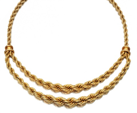a necklace of twisted rope design by boucheron