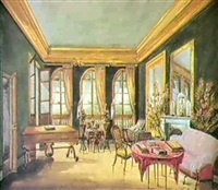 interior of the drawing room, passy near paris by fanny holden