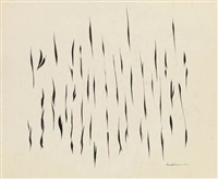 untitled (black vertical abstraction) by norman lewis