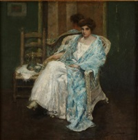 morning chocolate by charles webster hawthorne