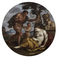 bacchus and ariadne by giulio carpioni