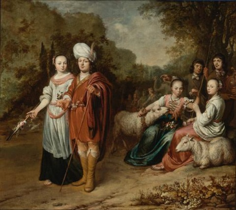 jacob and rachel by gerbrand van den eeckhout