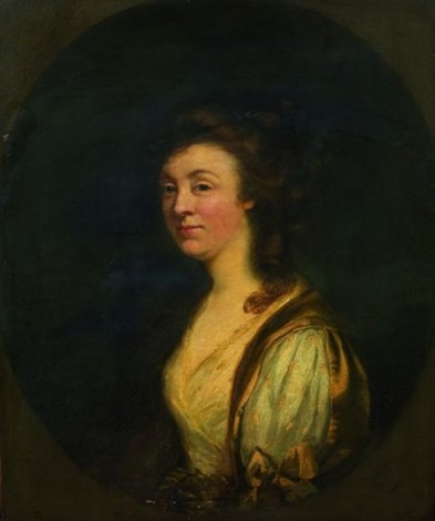 portrait de femme à vue ovale by thomas gainsborough