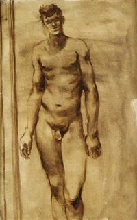 nude with big hands by walter stuempfig
