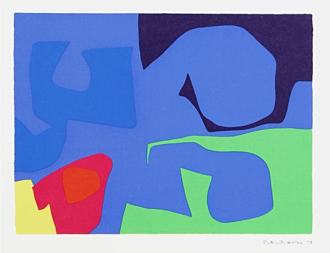 interlocking pink and vermilion with blue another 2 works by patrick heron