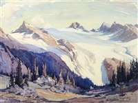 yoho glacier by alfred crocker leighton