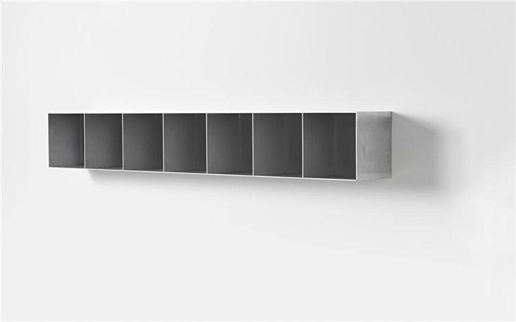 Kast Met Vakken : Kast zeven vakken wall mounted bookcase by maarten van severen on