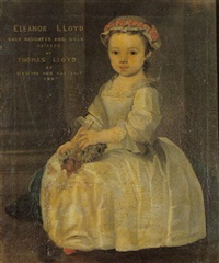 portrait of a young girl (eleanor lloyd of derwydd, derllys and danyrallt?) when a child by john lewis