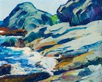 rocky coast, ogunquit by leon kroll