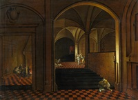 befreiung petri in interieur by peeter neeffs the elder