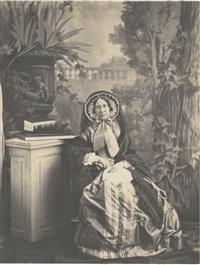 portrait de sa mère, marquise de las marismas by olympe (count) aguado