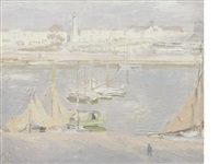 la rochelle, the harbour by william nicholson