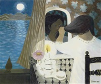 woman by a window by mary fedden