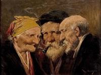 die wirkung des rauchens: 3 charakterköpfe by roman arregui