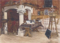 meissonier's studio by gustave mequillet