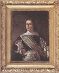 portrait de jeune homme à mi-corps by willem verschwer