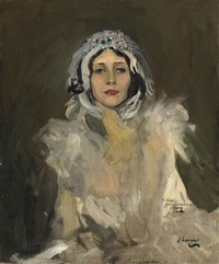anna pavlova as the swan (study) by john lavery