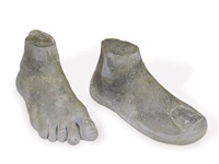 untitled (a foot and a large toe) (2 works) by robert guillot