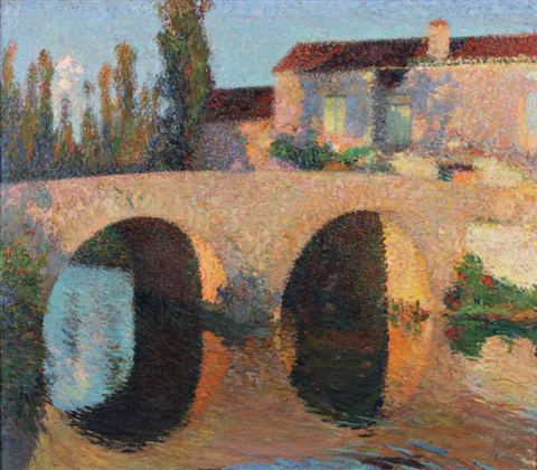 le pont à labastide du vert by henri jean guillaume martin