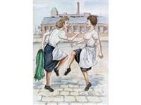 mill girls dancing by tom dodson