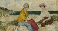 conversation en bord de mer by françois edouard zier