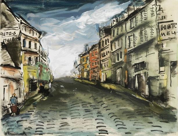 scène de rue by maurice de vlaminck