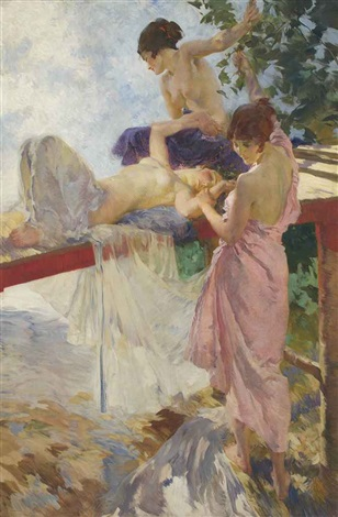 the painted bridge by william russell flint