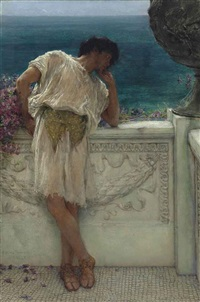 the poet gallus dreaming by sir lawrence alma-tadema
