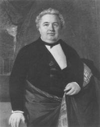 portrait d'homme, portrait du maire de santiago du chili (?) by raymond auguste quinsac monvoisin
